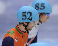 SHORT TRACK: DORDRECHT: Sportboulevard, 14-02-2016, ISU World Cup Short Track Final 2015/2016, Itzhak de Laat (#52), ©photo Martin de Jong