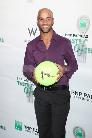 Tennis player James Blake attends the 13th Annual 'BNP Paribas Taste of Tennis' at the W New York.  New York City, August 23, 2012. ©Diego Corredor/MediaPunch Inc.