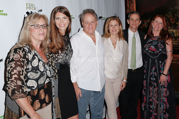 New York, NY - June 16 : (L-R) Pamela Lippe, Lindsey Allen, Josh Mailman, Monica Winsor, Andre Carothers and Jodie Evans attend EcoRock : A Benefit for the Rainforest Action<br /> Network held at The Cutting Room on June 16, 2014 in<br /> New York City. Photo by Brent N. Clarke / MediaPunch