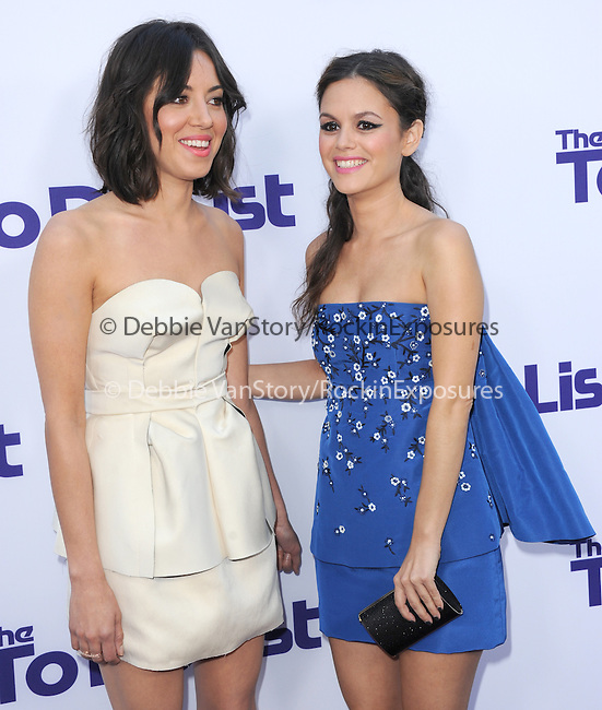 Aubrey Plaza  and Rachel Bilson  at The CBS Films L.A. Premiere of The To Do List held at The Regency Bruin Theatre in Westwood, California on July 23,2013                                                                   Copyright 2013 Hollywood Press Agency