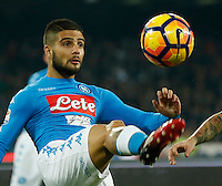 Lorenzo Insigne  during the  italian serie a soccer match,between SSC Napoli Sassuolo       at  the San  Paolo   stadium in Naples  Italy , November 28, 2016