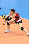 Yukiko Ebata (JPN),<br /> AUGUST 18, 2013 - Volleyball :<br /> 2013 FIVB World Grand Prix, Preliminary Round Week 3 Pool M match Japan 3-2 Czech Republic at Sendai Gymnasium in Sendai, Miyagi, Japan. (Photo by Ryu Makino/AFLO)
