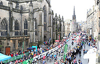 Picture by Simon Wilkinson/SWpix.com 03/09/2017 - Cycling OVO Energy Tour of Britain - Stage 1 Edinburgh to Kelso, sign on and start on Hight Street and Royal Mile  Edinburgh