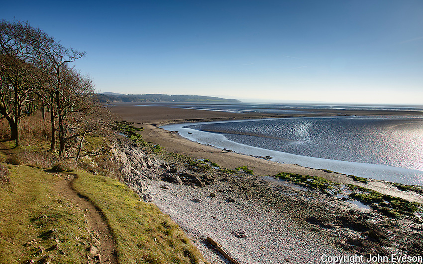 View of Morecambe Bay from Far Arnside, Cumbria, England.