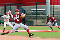 PULLMAN, WA-April 3, 2011:  Stanford player Dean McArdle in a game against Washington State University in Pullman, Washington.  Stanford won the game 4-3.