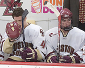 Mike Brennan, Brett Motherwell - The Boston College Eagles and University of New Hampshire earned a 3-3 tie on Thursday, March 2, 2006, on Senior Night at Kelley Rink at Conte Forum in Chestnut Hill, MA.  Boston College honored its three seniors, captain Peter Harrold and alternate captains Chris Collins and Stephen Gionta, before the game.