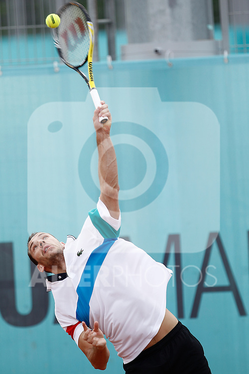 France's Michael Llodra during Mutua Madrid Tennis Open on May 4, 2011...Photo: Alex Cid-Fuentes / ALFAQUI