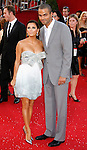 LOS ANGELES, CA. - September 21: Actress Eva Longoria Parker (L) and NBA player Tony Parker arrive at the 60th Primetime Emmy Awards at the Nokia Theater on September 21, 2008 in Los Angeles, California.