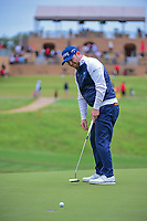 Brandon Grace (RSA) watches his birdie attempt head left  during round 3 of the Valero Texas Open, AT&amp;T Oaks Course, TPC San Antonio, San Antonio, Texas, USA. 4/22/2017.<br /> Picture: Golffile | Ken Murray<br /> <br /> <br /> All photo usage must carry mandatory copyright credit (&copy; Golffile | Ken Murray)