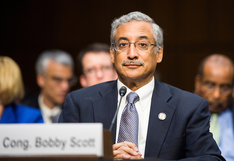 "UNITED STATES - DECEMBER 12: Rep. Bobby Scott, D-Va., testifies during the Senate Constitution, Civil Rights and Human Rights Subcommittee hearing on ""Ending the School-to-Prison Pipeline"" on Wednesday, Dec. 12, 2012. (Photo By Bill Clark/CQ Roll Call)"