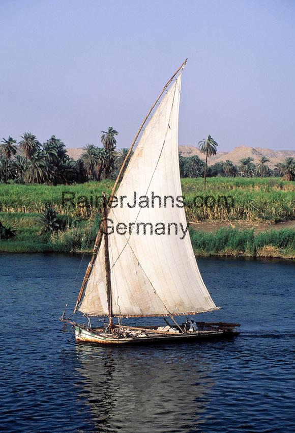 EGY, Aegypten, bei Assuan: Feluke auf dem Nil | EGY, Egypt, near Assuan: felucca on river Nile