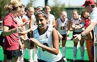STANFORD, CA - SEPTEMBER 6: Alysha Sekhon plays against Michigan State on September 6, 2010 in Stanford, California.