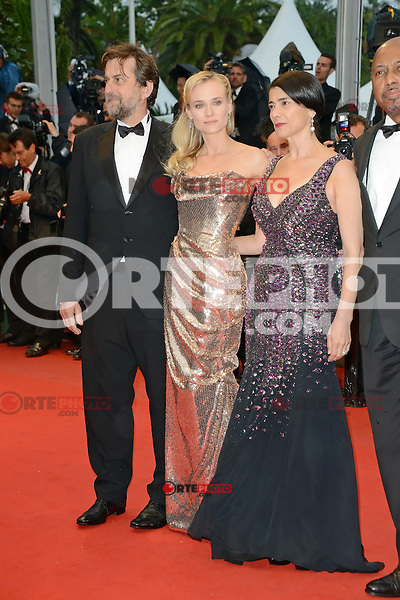 "Nanni Moretti, Diane Kruger and Hiam Abbass and  attending the ""Amour"" Premiere during the 65th annual International Cannes Film Festival in Cannes, France, 20th May 2012..Credit: Timm/face to face /MediaPunch Inc. ***FOR USA ONLY***"