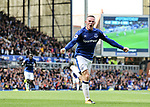 Everton's Wayne Rooney celebrates scoring his sides opening goal during the premier league match at Goodison Park, Liverpool. Picture date 12th August 2017. Picture credit should read: David Klein/Sportimage