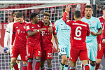 17.03.2019, Allianz Arena, Muenchen, GER, 1.FBL,  FC Bayern Muenchen vs. Mainz 05, DFL regulations prohibit any use of photographs as image sequences and/or quasi-video, im Bild Jubel nach dem Tor zum 3-0 durc Kingsley Coman (FCB #29) mit David Alaba (FCB #27) Robert Lewandowski (FCB #9) Thiago (FCB #6) <br /> <br />  Foto &copy; nordphoto / Straubmeier
