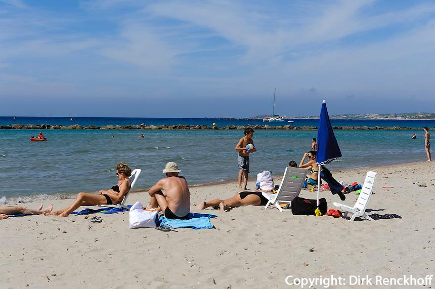 Strand von Calvi, Korsika, Frankreich