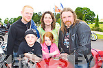 Revving up fun at the Irish Motor Bike rally in the Gleneagle Hotel Killarney on Saturday front l-r: Gearoid Daly, Roisine Daly Gneeveguilla. Back: Maurice O'Shea Killarney, Joan Daly and Marty Daly Gneeveguilla.   Copyright Kerry's Eye 2008