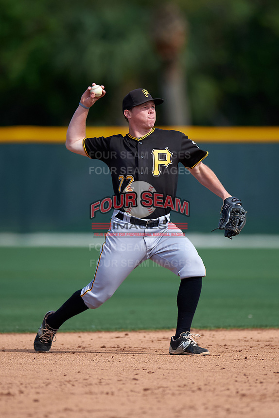 Pittsburgh Pirates Mitchell Tolman (72) during a minor league Spring Training intrasquad game on April 3, 2016 at Pirate City in Bradenton, Florida.  (Mike Janes/Four Seam Images)