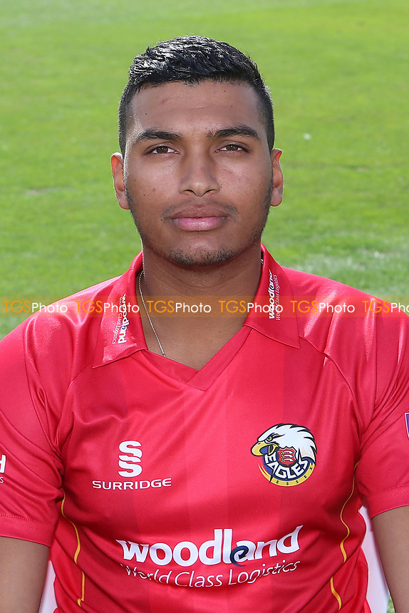 Kishen Velani of Essex in Royal London Cup kit during the Essex CCC Press Day at The Cloudfm County Ground on 5th April 2017