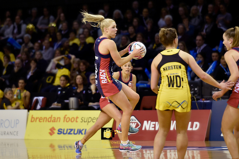 Vixens' Kate Moloney in action during the ANZ Championship - Central Pulse v Vixens at TSB Bank Arena, Wellington, New Zealand on Monday 4 July 2016. <br /> Photo by Masanori Udagawa. <br /> www.photowellington.photoshelter.com.