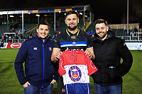 Post-match with Elliott Stooke of Bath Rugby. European Rugby Champions Cup match, between Bath Rugby and RC Toulon on December 16, 2017 at the Recreation Ground in Bath, England. Photo by: Patrick Khachfe / Onside Images