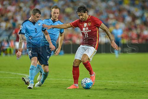 02.03.2016. Sydney, Australia. AFC Champions League. Sydney versus Guangzhou Evergrande. Evergrande midfileder Ricardo Goulart in action. Sydney won the game 2-1.