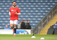 Blackburn Rovers' Derrick Williams during the pre-match warm-up <br /> <br /> Photographer Kevin Barnes/CameraSport<br /> <br /> The EFL Sky Bet Championship - Blackburn Rovers v Swansea City - Sunday 5th May 2019 - Ewood Park - Blackburn<br /> <br /> World Copyright © 2019 CameraSport. All rights reserved. 43 Linden Ave. Countesthorpe. Leicester. England. LE8 5PG - Tel: +44 (0) 116 277 4147 - admin@camerasport.com - www.camerasport.com