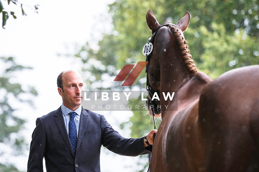 NZL-Tim Price (THE COURT JESTER) CCI3* FIRST HORSE INSPECTION: 2015 GBR-Blenheim Palace International Horse Trial (Wednesday 16 September) CREDIT: Libby Law COPYRIGHT: LIBBY LAW PHOTOGRAPHY