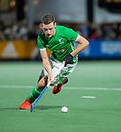 AMSTELVEEN - Jonathan Bell (IRE)   tijdens de hockeyinterland Nederland-Ierland (7-1) , naar aanloop van het WK hockey in India.  COPYRIGHT KOEN SUYK