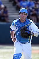 Daniel Rosica (47) of the UCLA Bruins during a game against the Texas Longhorns at Jackie Robinson Stadium on March 12, 2016 in Los Angeles, California. UCLA defeated Texas, 5-4. (Larry Goren/Four Seam Images)