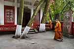 _DSC1924, Vacheron, China, 02/2016, CHINA-10345. Monks in a courtyard.<br /> <br /> CHECK IMAGE USAGE<br /> <br /> FINAL_Vacheron<br /> <br /> retouched_Sonny Fabbri and Ekaterina Savtsova 06/09/2016