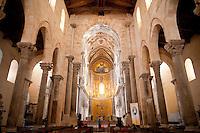 Il Duomo, Cefalu, 12th century mosaic of Christ Pantokrator, Sicily
