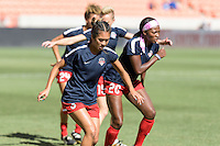 Houston, TX - Sunday Oct. 09, 2016: Caprice Dydasco prior to the National Women's Soccer League (NWSL) Championship match between the Washington Spirit and the Western New York Flash at BBVA Compass Stadium. The Western New York Flash win 3-2 on penalty kicks after playing to a 2-2 tie.
