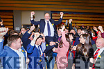 Danny Healy Rae celebrates after he is elected  at the count in Killarney on Monday evening