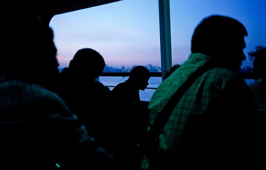 Morning Commuters, Yangon, Burma/Myanmar, November 2010. Photo: Ed Giles.