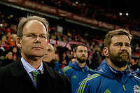 Toronto, ON, Canada - Saturday Dec. 10, 2016: Brian Schmetzer prior to the MLS Cup finals at BMO Field. The Seattle Sounders FC defeated Toronto FC on penalty kicks after playing a scoreless game.