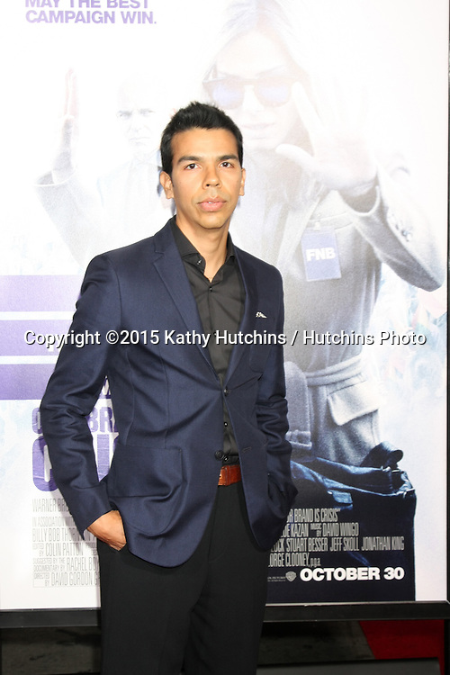 "LOS ANGELES - OCT 26:  Octavio Gomez Berrios at the ""Our Brand is Crisis"" LA Premiere at the TCL Chinese Theater on October 26, 2015 in Los Angeles, CA"