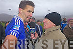 Maurice Fitzgerald giving an interview to Wishie Fogerty after the South Kerry Final.