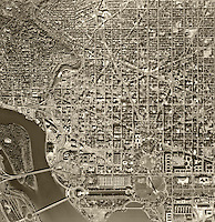 historical aerial photograph of Washington, DC, 1968