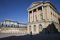 Early morning views of the Palace of Versailles en route to catch the shuttle to the course, during the preview days of the 2015 Alstom Open de France, played at Le Golf National, Saint-Quentin-En-Yvelines, Paris, France. /01/07/2015/. Picture: Golffile | David Lloyd<br /> <br /> All photos usage must carry mandatory copyright credit (&copy; Golffile | David Lloyd)