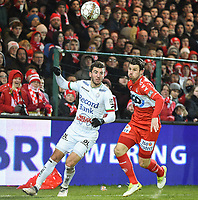 KV KORTRIJK - SV ZULTE WAREGEM :<br /> duel tussen Michael Heylen (L) en Stijn De Smet (R)<br /> <br /> Foto VDB / Bart Vandenbroucke
