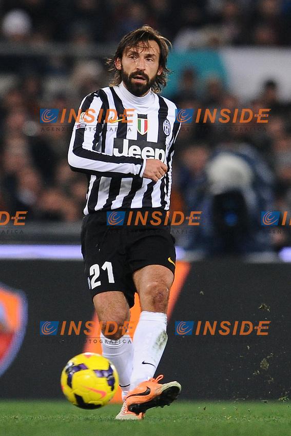 Andrea Pirlo Juventus.<br /> Roma 21-01-2014 Stadio Olimpico. Football Calcio 2013/2014 Tim Cup. AS Roma - Juventus. Foto Antonietta Baldassarre / Insidefoto