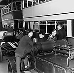 Kinks 1965 Ray Davies,Pete Quaife, Dave Davies and Mick Avory at the  London Transport Museum..© Chris Walter..