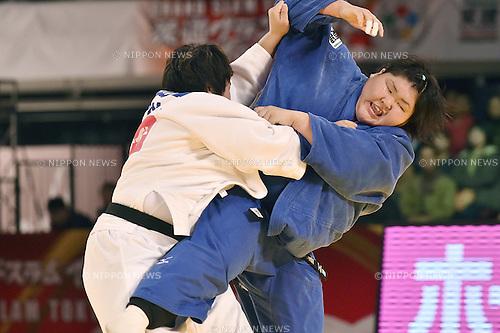 (L-R) Nami Inamori, Sara Asahina (JPN), DECEMBER 7, 2014 - Judo : IJF Grand Slam Tokyo 2014 International Judo Tournament Women's +78kg Final at Tokyo Metropolitan Gymnasium, Tokyo, Japan. (Photo by AFLO)