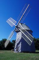 AJ1485, windmill, Cape Cod, Massachusetts, Brewster, 1795 Windmill at the Brewster Historical Society in Brewster, Massachusetts.