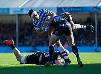 Bath Rugby's Francois Louw in action during todays match<br /> <br /> Photographer Bob Bradford/CameraSport<br /> <br /> Premiership Rugby Cup - Exeter Chiefs v Bath Rugby - Sunday 24th March 2019 - Sandy Park - Exeter<br /> <br /> World Copyright © 2018 CameraSport. All rights reserved. 43 Linden Ave. Countesthorpe. Leicester. England. LE8 5PG - Tel: +44 (0) 116 277 4147 - admin@camerasport.com - www.camerasport.com