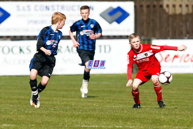 LONG LANE v EBBSFLEET UNITED<br /> KENT COUNTY FA CUP FINAL U13 SUNDAY 1ST APRIL 2012 FAVERSHAM TOWN FC