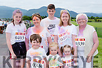 Having family fun at the Killarney Colour Run in Killarney Racecourse on Saturday were front row l-r: Jack and Paudie O'Connor and Aoibhín Casey. Back row: Emer Talbot, Diane O'Leary, Daniel Talbot, Maura Casey and Mary Moriarty