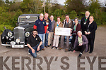 Charity's that were presented with cheques of €1,500 to €500 from Treasurer of Kingdom Veteran Vintage & Classic Car Club Mike O'Donnell at the Woodlands Caravan park, Tralee on Saturday, at the presentation were, Tom Reidy (Kerry to Cork Cancer Treatment Bus), Mike O'Donnell (Treasurer and David Curran (Chairman KVV&CCC), Elma Walsh (Donal Walsh Live Life Foundation), Garrett Foley (KVV&CCC), Carol Robbins and Breda Dyland (Kerry-Cork Treatment Bus), Brendan Shanahan (KKK&CCC Committee member), Sean Prendergast (Kerry Cancer Support Group Kerrk/Cork Link Bus) and CHris Robbins.  The Charities Parents and Friends €1,000, Donal Walsh Live Life Foundation 500, Alzheimer's Society€500, Kerry Cancer Support Group Kerry/Cork Link Bus €1,500