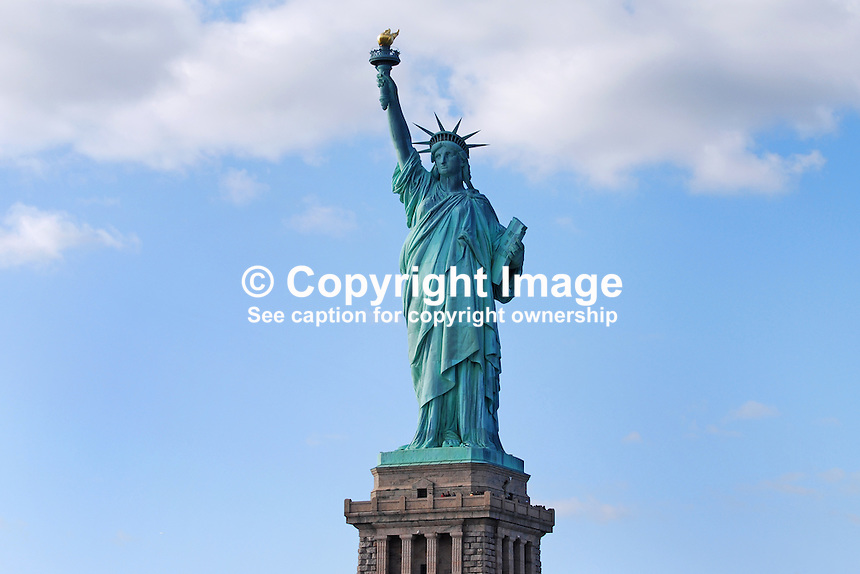 Statue of Liberty, Liberty Island, New Jersey, USA, 201110225493..Copyright Image from Victor Patterson, 54 Dorchester Park, Belfast, United Kingdom, UK...For my Terms and Conditions of Use go to http://www.victorpatterson.com/Victor_Patterson/Terms_%26_Conditions.html
